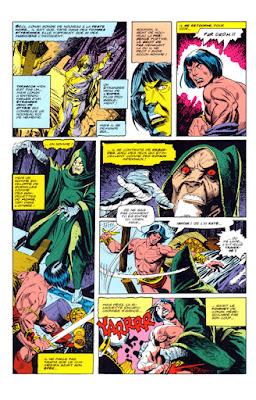 Conan affronte le maléfique Xaltotun