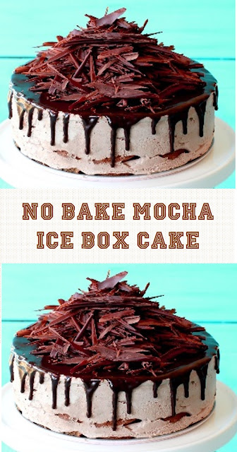 No Bake Mocha Ice Box Cake