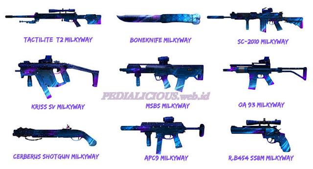 Harga & Statistik Seri Milkyway Senjata Point Blank