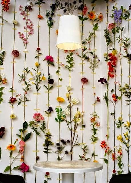 decorate flowers on walls
