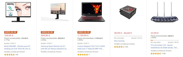 Ofertas 09-07 Amazon Top 10 Ofertas del Día, Flash y Destacadas