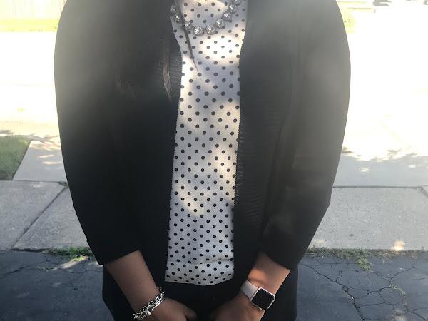 Polka dot with black