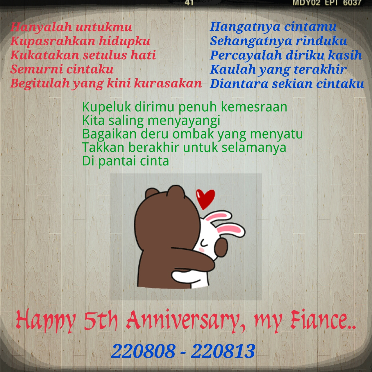 Gambar Kata Kata Happy Anniversary 5 Bulan Seribupost