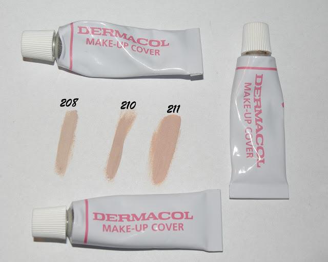 Dermacol swatche odcieni 208 210 211