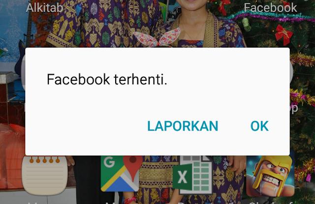 Cara mengatasi Facebok terhenti sendiri di Android terbaru 2018