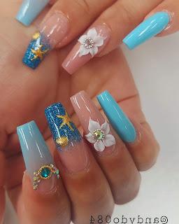 Light Blue Nail Designs