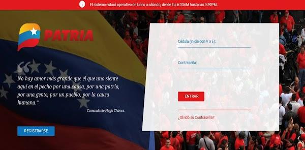 www.patria.org.ve acceder