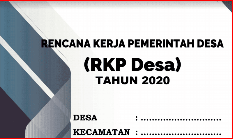 Download Lengkap Ceklis Kelengkapan Lampiran RKP Desa Download Lengkap File Dokumen RKP Desa