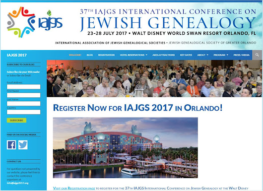 IAJGS 2017- Orlando, Florida, Registration is Now Open