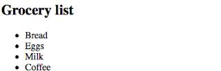 unordered list untuk menandai item list pada laman html