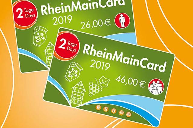 Cartão do Rhein Main Card em Frankfurt