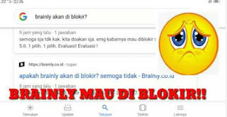 Brainly diblokir