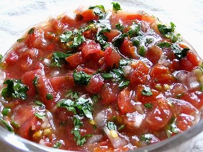 Simple Tomato Salsa