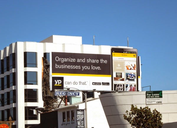 Organize share businesses you love YP special extension billboard