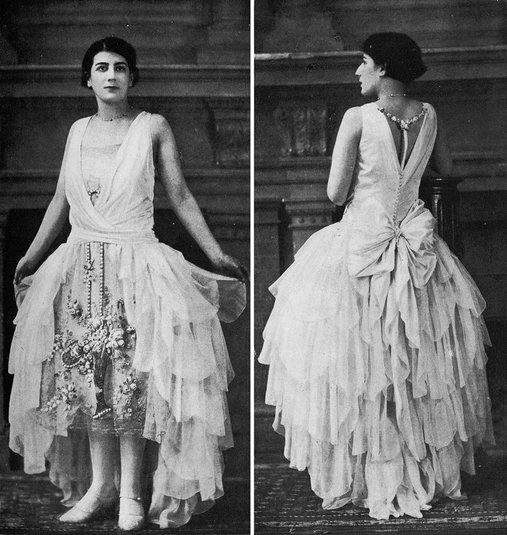 Rpbe de style par Boué Soeurs, 1928