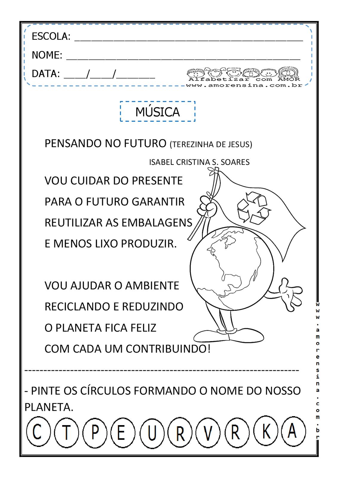 Well-known MEIO AMBIENTE - MÚSICA E ATIVIDADES RELACIONADAS - 2º PERÍODO/ 1º  MK49