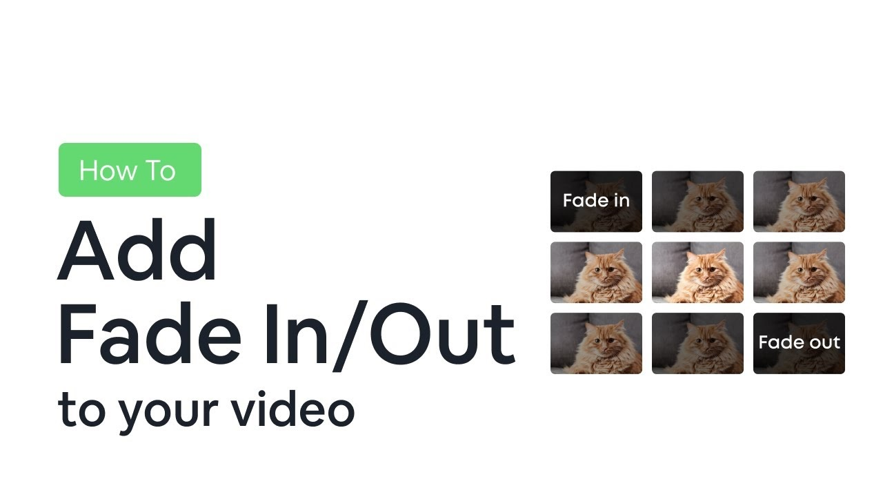 how to fade in and fade out video and audio