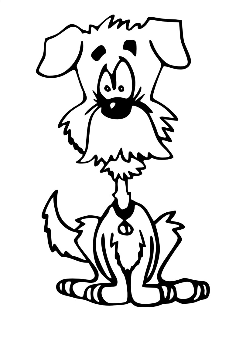 Dogs coloring pages 60