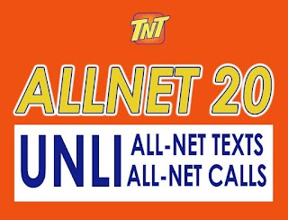 TNT ALLNET20 - 2 Days Unli call and Text to all networks + 50MB Data