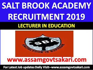 Salt Brook Academy Recruitment 2019