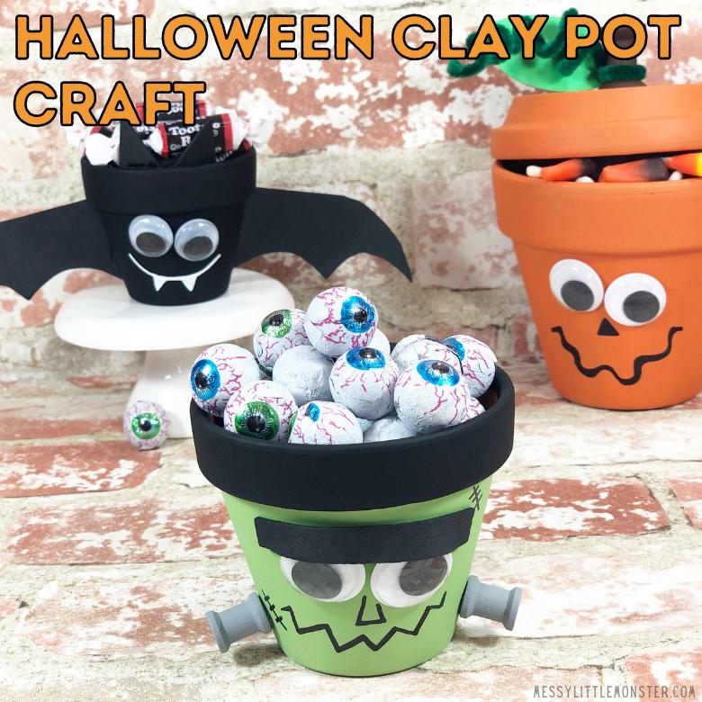 Halloween clay pot crafts