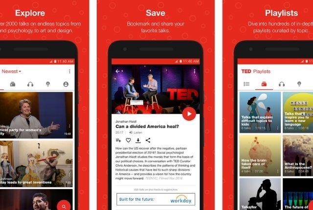 TED-for-iPhone - تطبيقات التعليم عن بعد