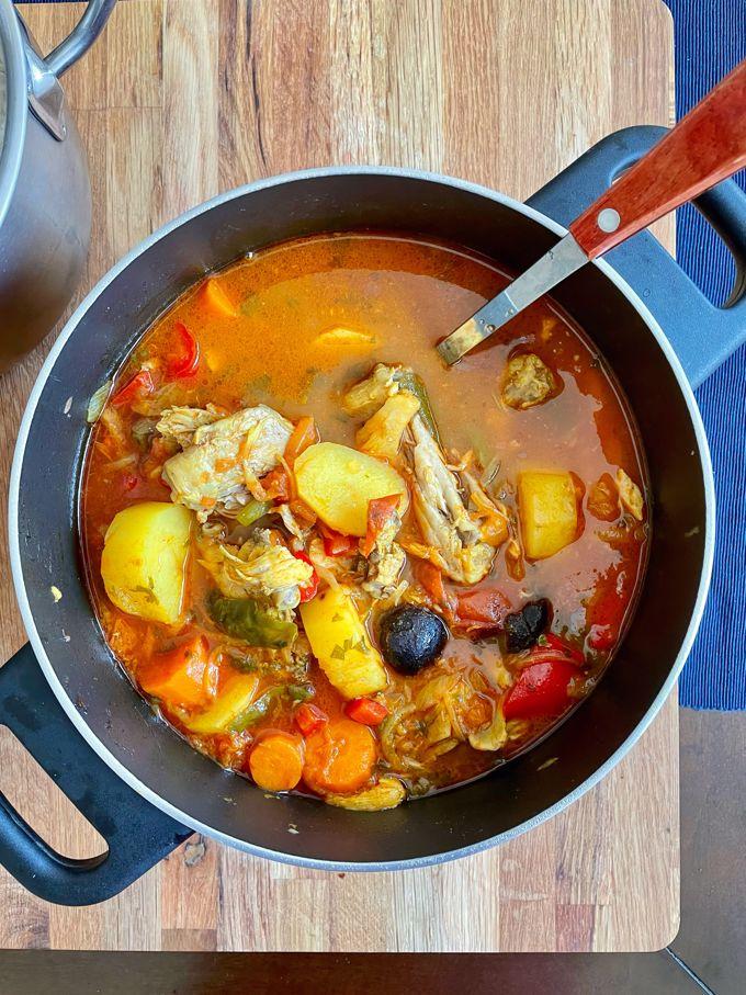 Dejaj Salona | Emirati Chicken and Vegetable Stew