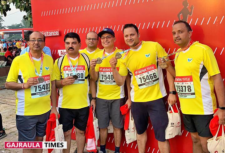 एयरटेल हाफ मेराथन में जुबिलेंट गजरौला की टीम ने गोल्ड-सिल्वर मेडल जीते