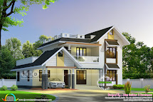 2650 Square Feet Nice Sloping Roof Mix Home Kerala