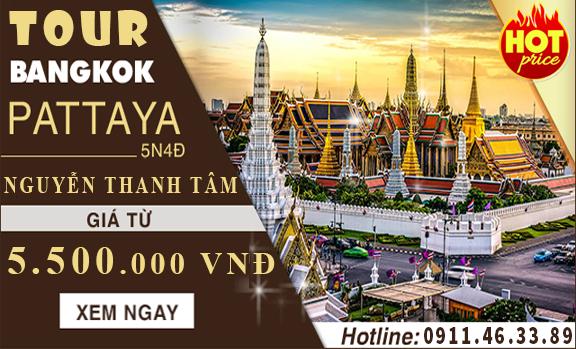 Điểm du lịch Thái Lan Bangkok Pattaya 5N4Đ đăng ký ngay kẻo hết