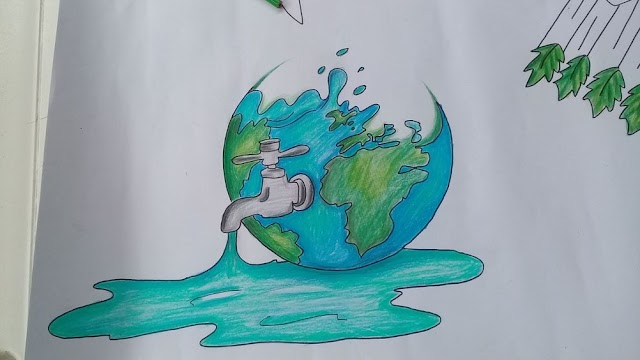Save Water Drawings & Posters on How to Save Water