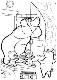 מאשה והדוב צביעה