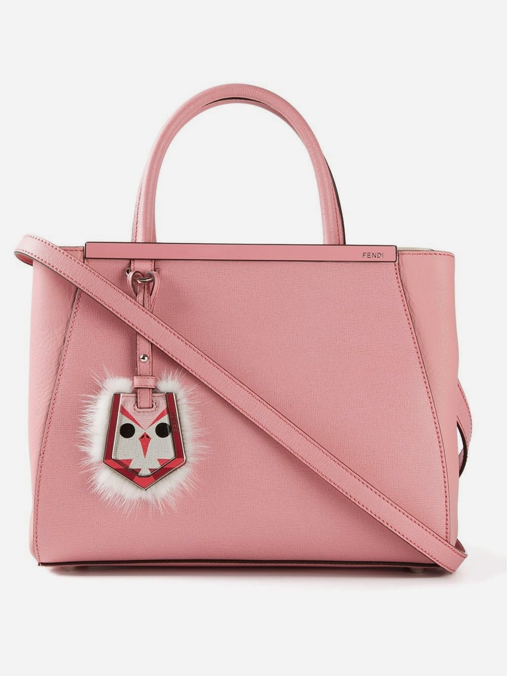 Fendi 2jours bag in pink with fur charm 4220c08d0a81