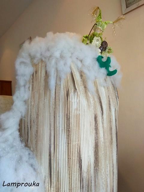Χριστουγεννιάτικη διακόσμηση βιτρίνας.