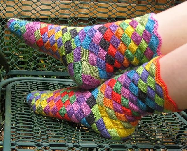 Renkli Yün Çorap Yapımı