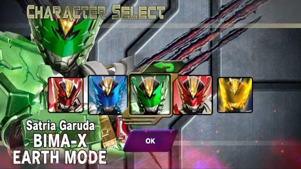 Download Satria Garuda Bima X Mod Apk Terbaru Unlock All Character