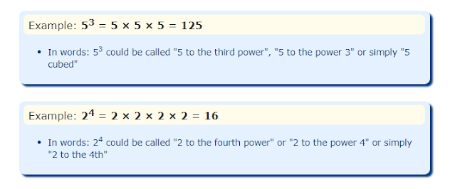 Exponents examples