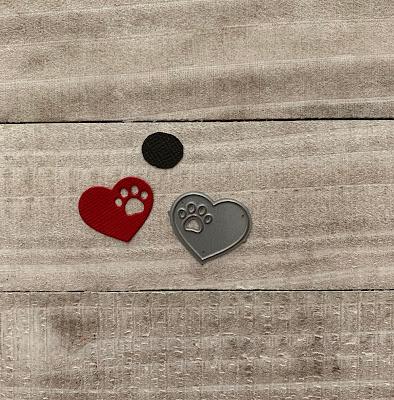 My Favorite Things Paw Print Heart Die