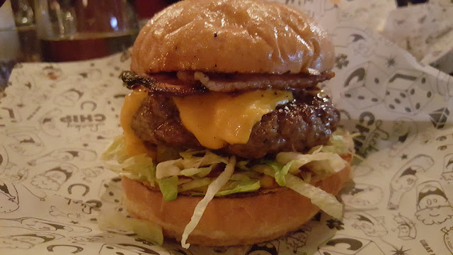 Kevin Bacon cheeseburger at Lucky Chip