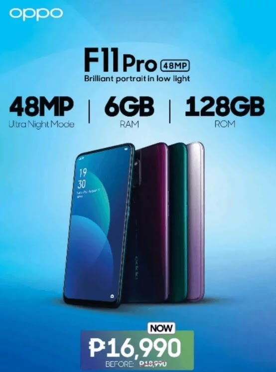 OPPO F11 Pro (128GB) Drops Its Price to Only Php16,990!