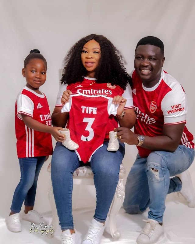 Seyi Law and wife welcome baby girl (Photos)