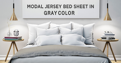 Modal Jersey Sheet Set in Gray Color