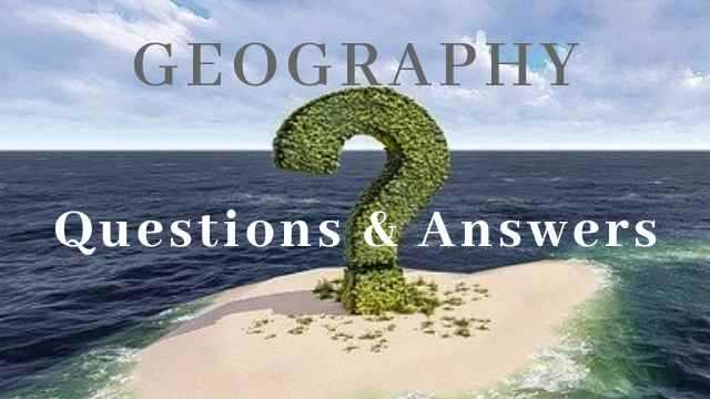 Important Questions of Geography