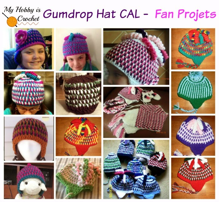 Featured Fan Projects - Gumdrops Hat Free Crochet Pattern