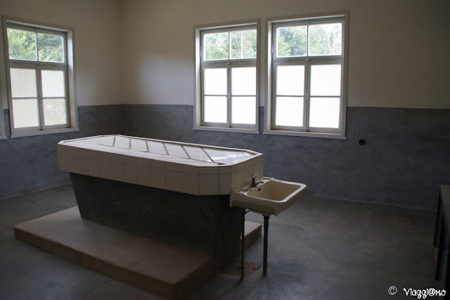 Il tavolo delle dissezioni presente al Campo di Concentramento di Natzweiler-Struthof