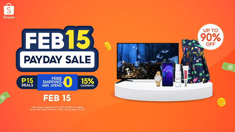 Shopee announces February Payday Sale with up to 90 percent discounts