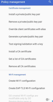 List of APIs Methods available in Test DPC app