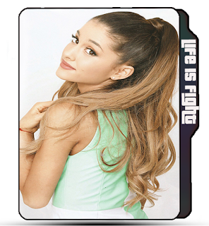 Blonde Ariana Grande, Celebrity, Singer, Araina Grande folder icon, beautiful girl, blonde girl.