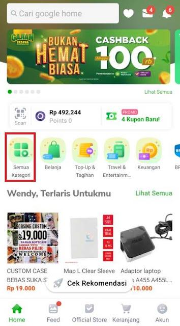 Membeli Saldo Google Play Di Tokopedia Dengan OVO