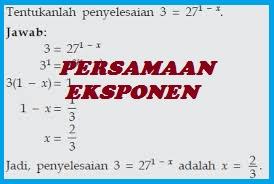 Soal Ulangan Harian Persamaan Eksponen Matematika SMA Kelas XII Kurikulum 2013 dan Pembahasannya